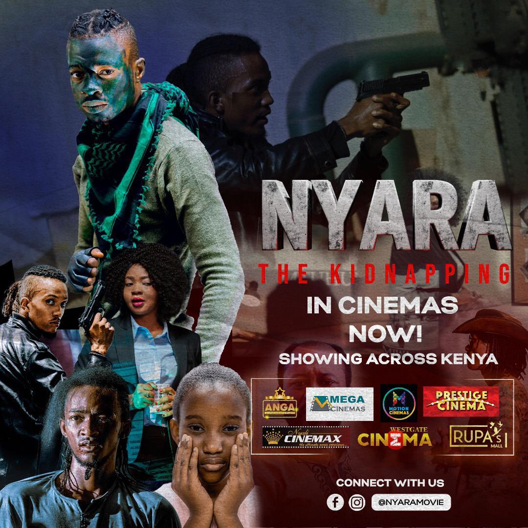 "Happy Saturday fam! Watch the new Tanzanian movie ""Nyara"" (Swahili for The Kidnapping) now showing in Kenyan cinemas! 🇹🇿🇰🇪 Screenings at @WestgateMallKe, Motion cinemas (Greenspan Mall), @PrestigeCine, Anga Cinema (Diamond Plaza) @NyaliCinemax, @RupasMallCinema, @MegaCinemas 🎥🍿 https://t.co/S9dDWi4WJl"