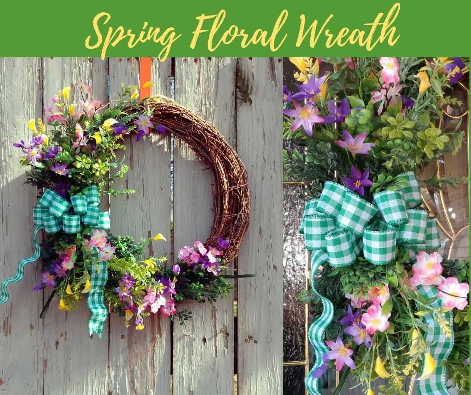 Spring Floral Wreath 🌺🌼🦋 FREE shipping in the US  via @Etsy  #spring #springdecor #wreath #SummerVibes #summer #decor #etsyfinds #floral #farmhouse #Flowers #MothersDay #mothersdaygift #shabbychic #CraftBizParty #homedesign #handmadegifts #giftideas