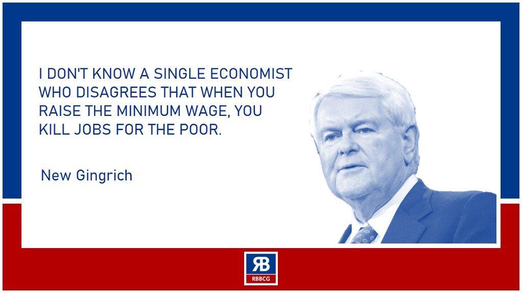 Do you agree with #minimumwage? #NewtGingrich  #RBBCG #RoozbehBozorgmanesh
