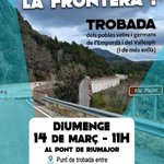 Image for the Tweet beginning: 📢 Esborrem la frontera ‼️  Trobada
