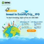 Image for the Tweet beginning: IPO ALERT! EaseMyTrip IPO Opens Soon. Open