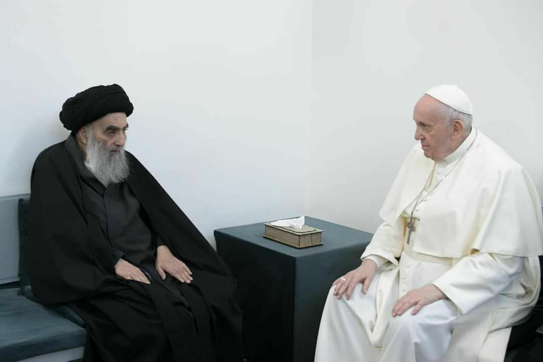 Pope Francis And Shiite Cleric Grand Ayatollah Sistani Hold Historic Meeting