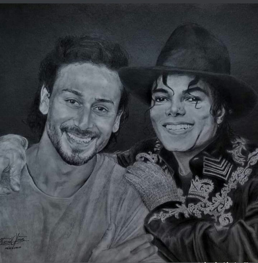@iTIGERSHROFF @michaeljackson #TigerShroff #michaeljackson  .................  Hope you like this beautiful #drawing 💗💗🙏 drawn by one of the yours lovingly fan 😉 ......... Video-  .......... #kr_drawings .. 💗💗🙏