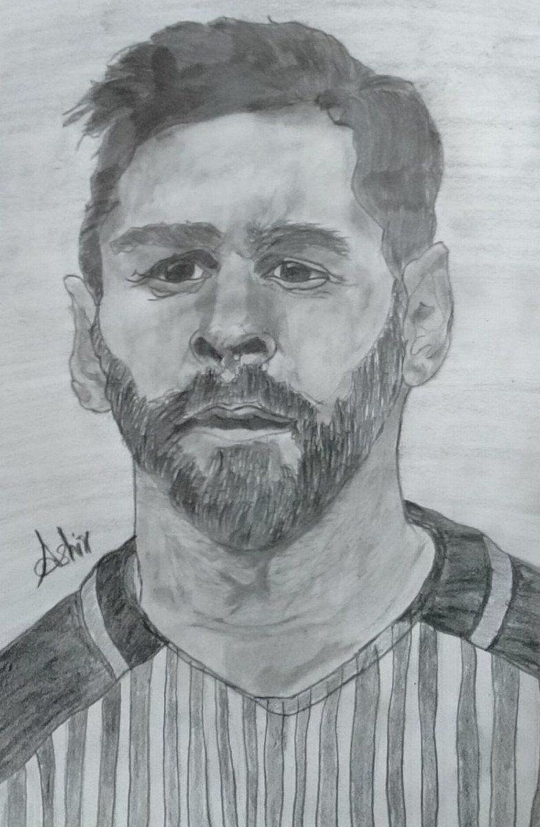 Complete sketch of Lionel Messi 💞 #lionelmessi #Messi #football #Barcelona #Argentina #sketch #sport #sports #worldcup2022 #Trending #drawing #Messi #viral #foryou