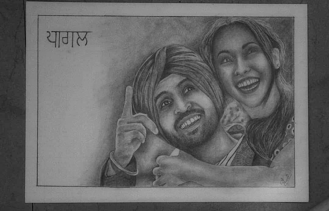#DiljitDosanjh @diljitdosanjh  ........ Hope you like this beautiful #drawing  draw by one of the yours biggest fan 🙂.. ... Video-  ........ Insta- kr_pencil_drawings  ... #kr_drawings