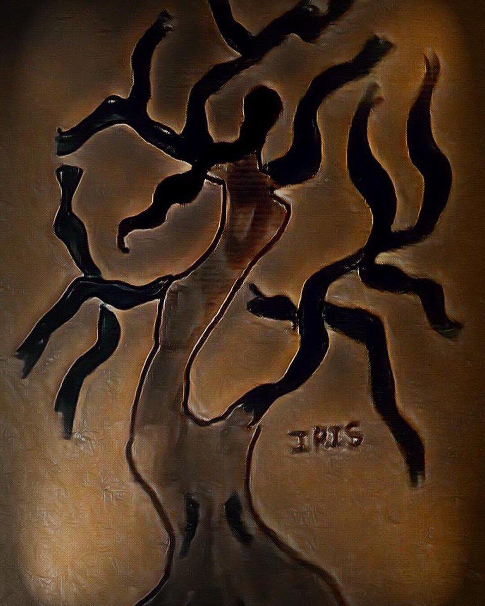 The heart 💜 of a tree 🌳 painted by @IRISUNART #irisunart #art #artistic #artist #arte #artsy #arts #painting #paintings #paint #watercolor #watercolors #instartist #instalove #instalike #galleryart #onlinegallery #fineart