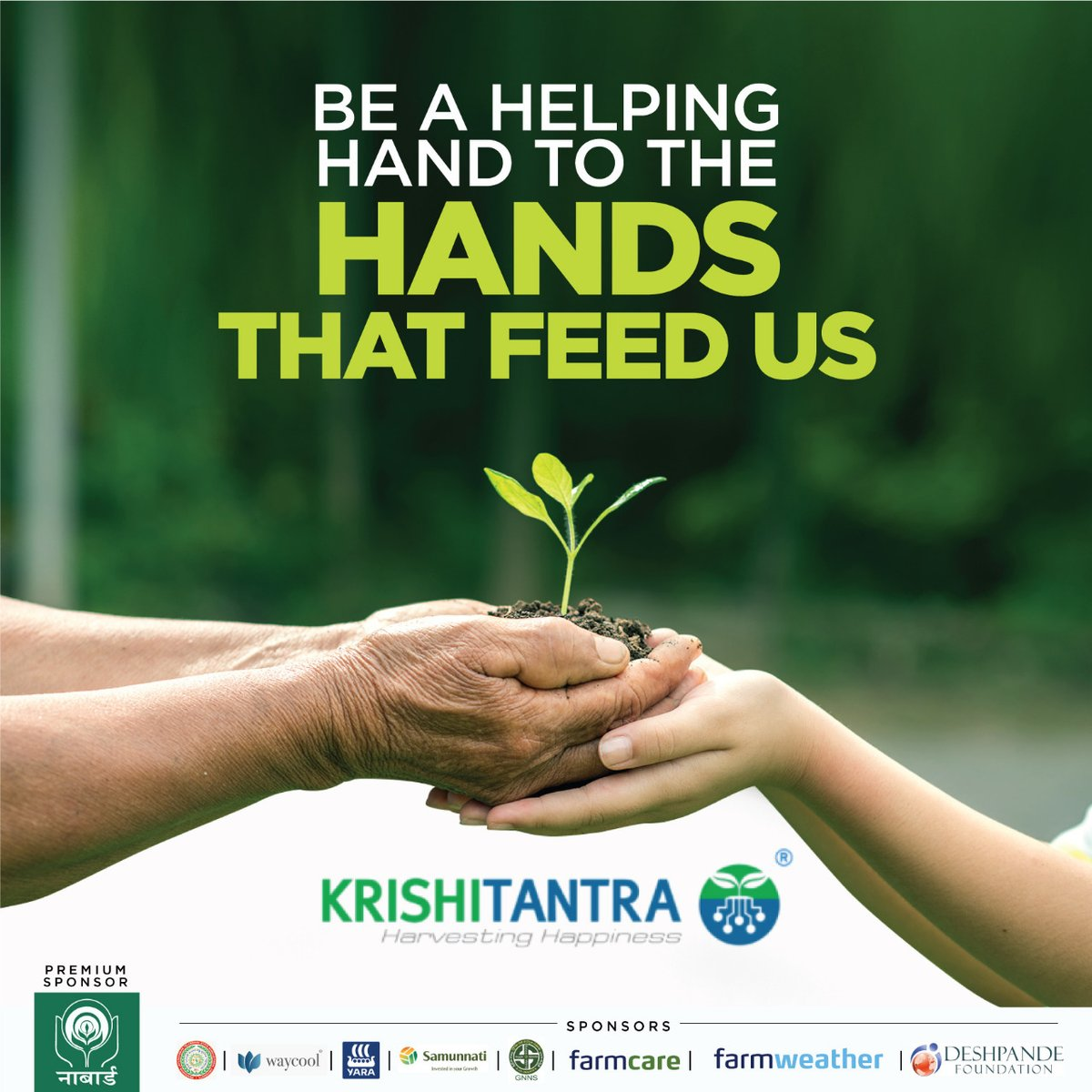 A little support from your end can do wonders in the lives of those who ensure food on our table. Sponsor a farmer by donating a soil test @Rs 149/- To know more, visit  #soiltestingawareness #helpinghands #HelpingFarmers #soiltesting #greenindia #farmers