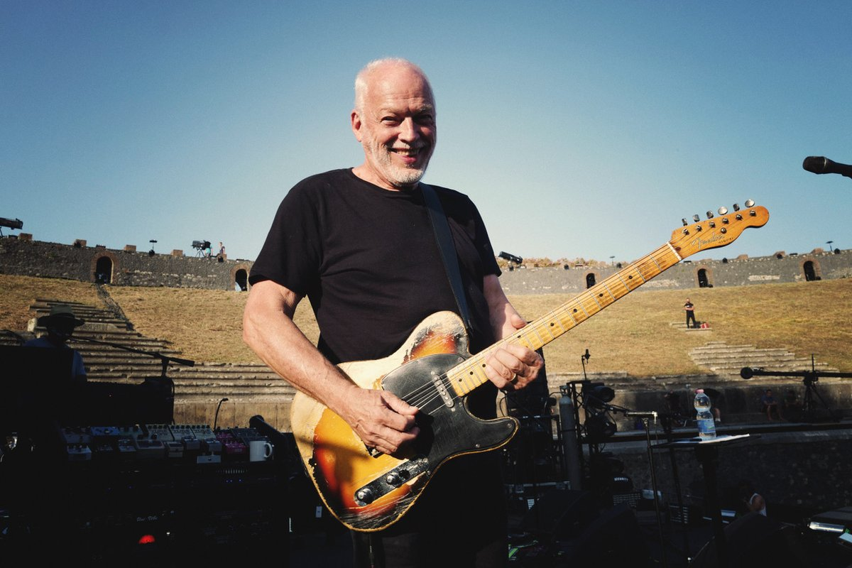 Please join us in wishing David Gilmour a wonderful birthday! [Picture taken by Polly Samson: David in Pompeii, Italy]