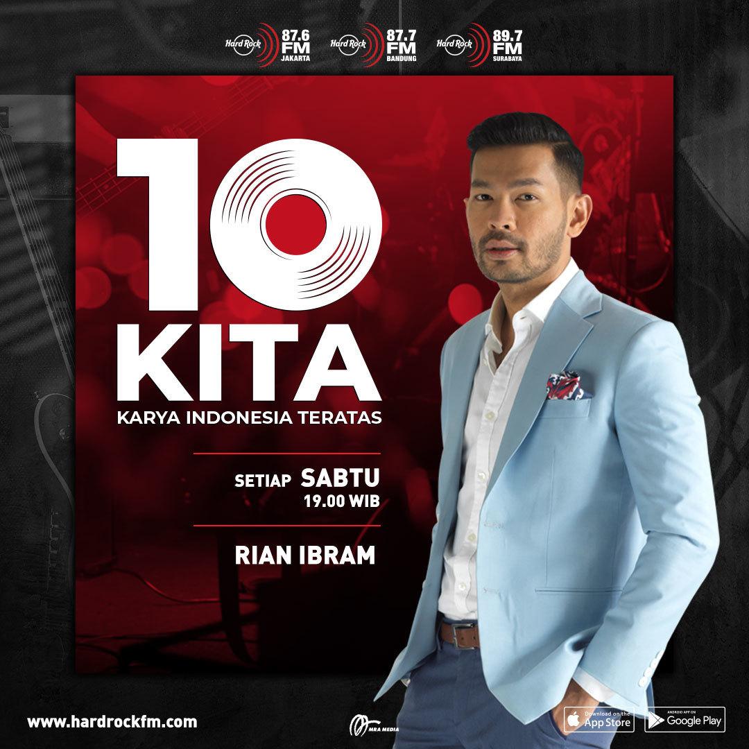 Stay tuned! Krena sebentar lagi lo akan dengar lagu-lagu Indonesia keren yang berhasil masuk ke chart #10KITA! @rian_ibram akan bahas semuanya mulai jam 7 nanti.
