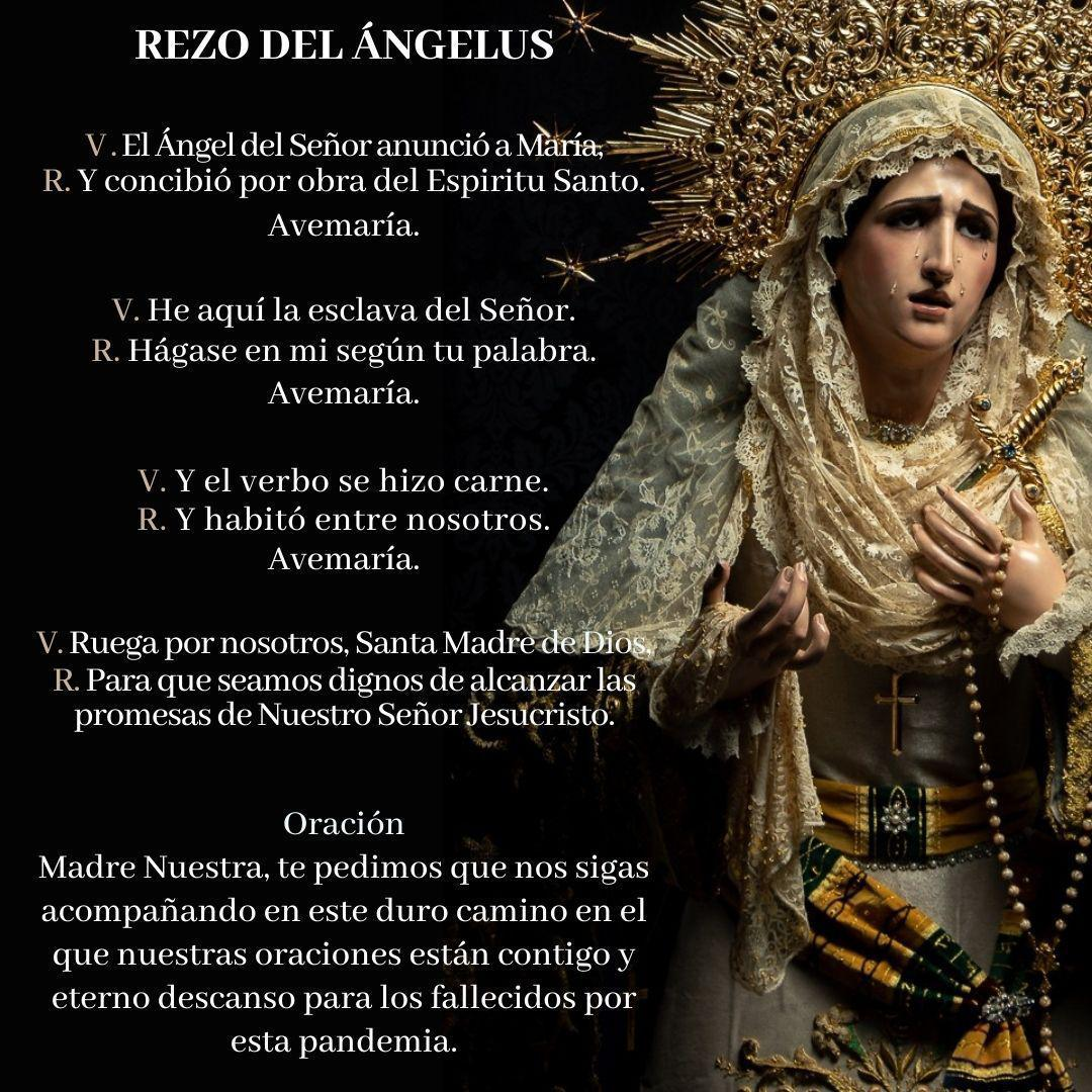 Rezo del #Ángelus   #oración #soledadfranciscana #sevilla