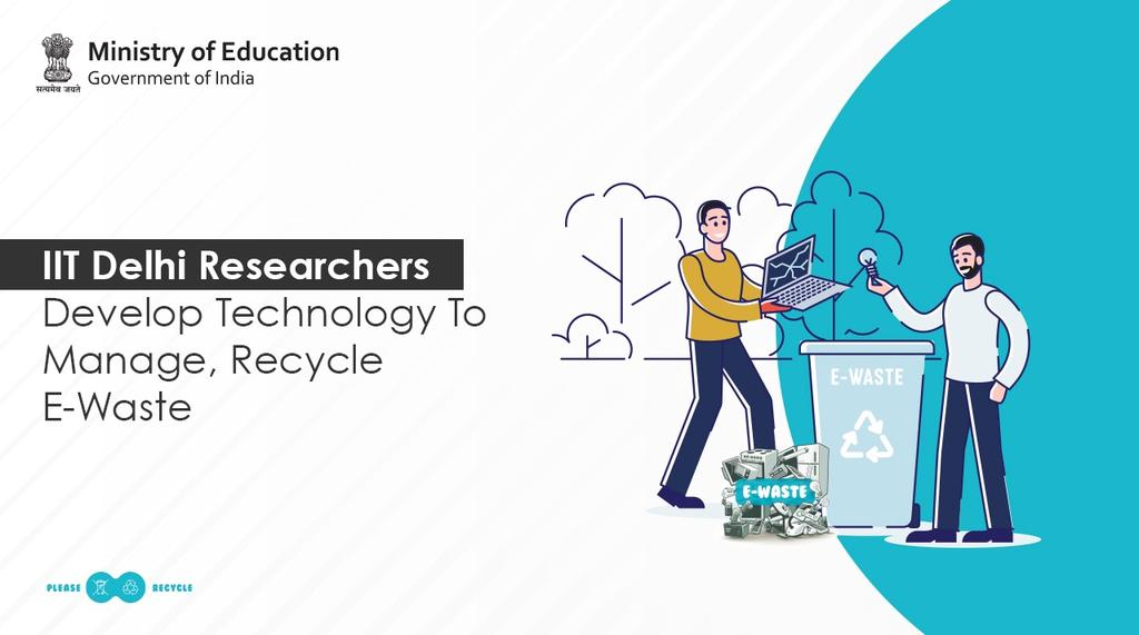 A team of researchers of @iitdelhi have developed a #sustainabletechnology to manage & recycle e-waste. #AatmanirbharBharat #cleanindia