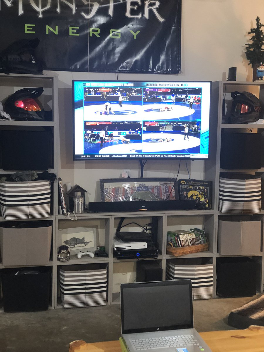#B1GQuadBox moved out into shop Man Cave.  Go Hawks!