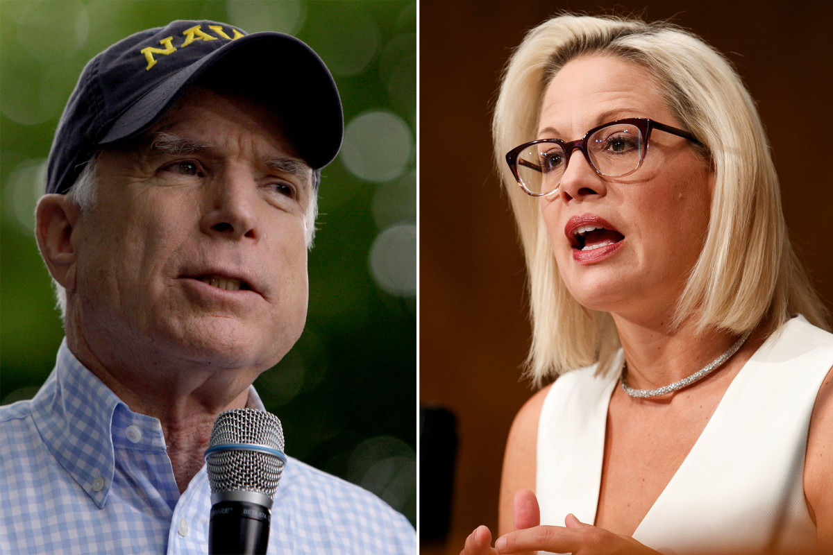 Sen. Kyrsten Sinema takes page from John McCain with thumbs down vote