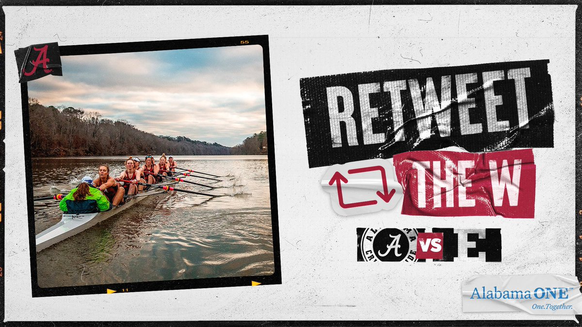 Roll Tide! @AlabamaRow wins their first regatta of the season! 🚣‍♀️