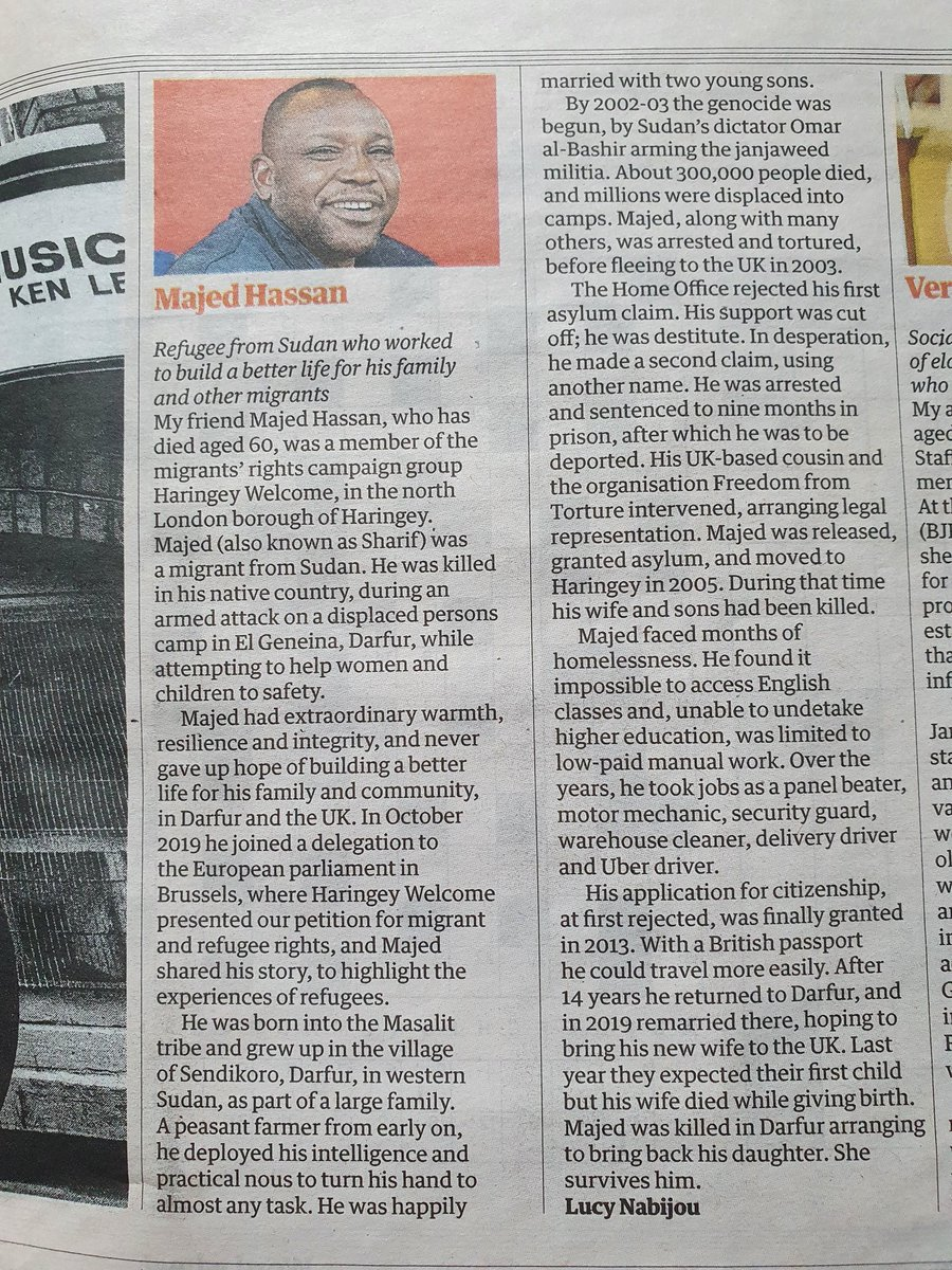 Just read this obituary in the Guardian. I urge you to read it and try and comprehend how much tragedy one human being can have. Its touched me deeply.