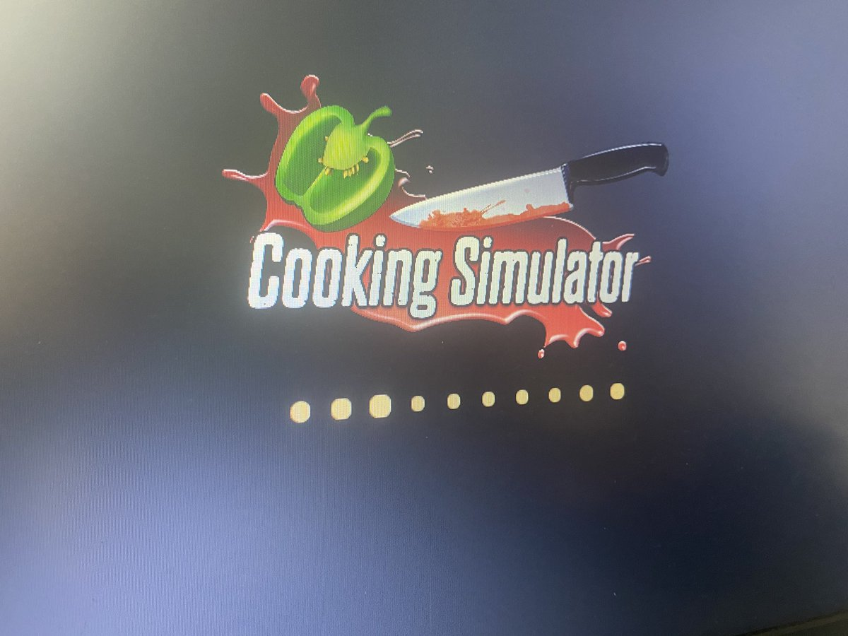 The issue with me streaming is, my laptop just isn't good with ANYTHING. I'm definitely asking too much from a 4GB ram laptop. It has a lot of memory to have games but not enough speed to run it. I've downloaded cooking simulator and it's been stuck on this screen for 10 mins 
