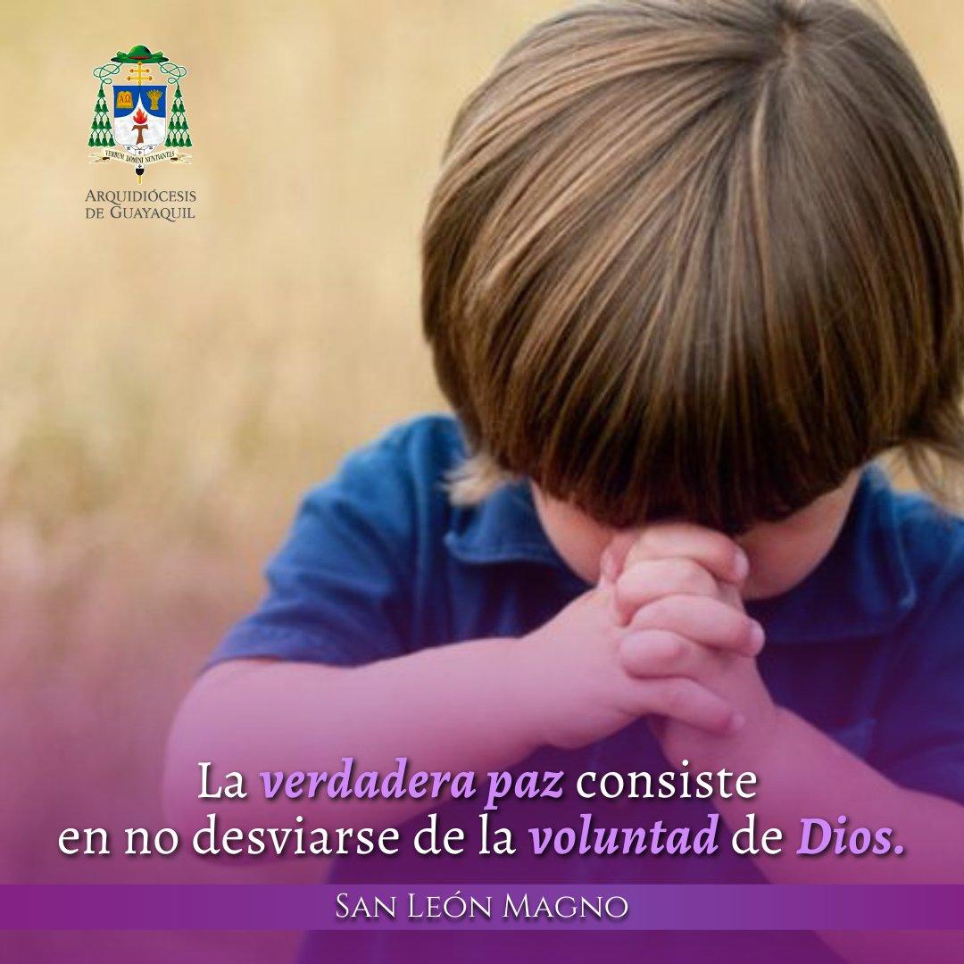 El hombre que vive en pecado padece de muchas preocupaciones terrenales; pero quien vive apegado al camino de Dios goza de la paz del alma.  #Cuaresma #Paz #Oración #ViveTuFe #SomosIglesiaViva #FidesOnline #Guayaquil #FelizSábado