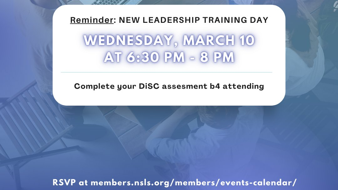 NEW #LTD date! Wednesday, March 10 at 6:30 - 8:30 PM. If you cannot make it to our other weekend LTD dates, this new date is for you! RSVP asap at   #theNSLS #leadership #LeadershipTraining #PaceUniversity