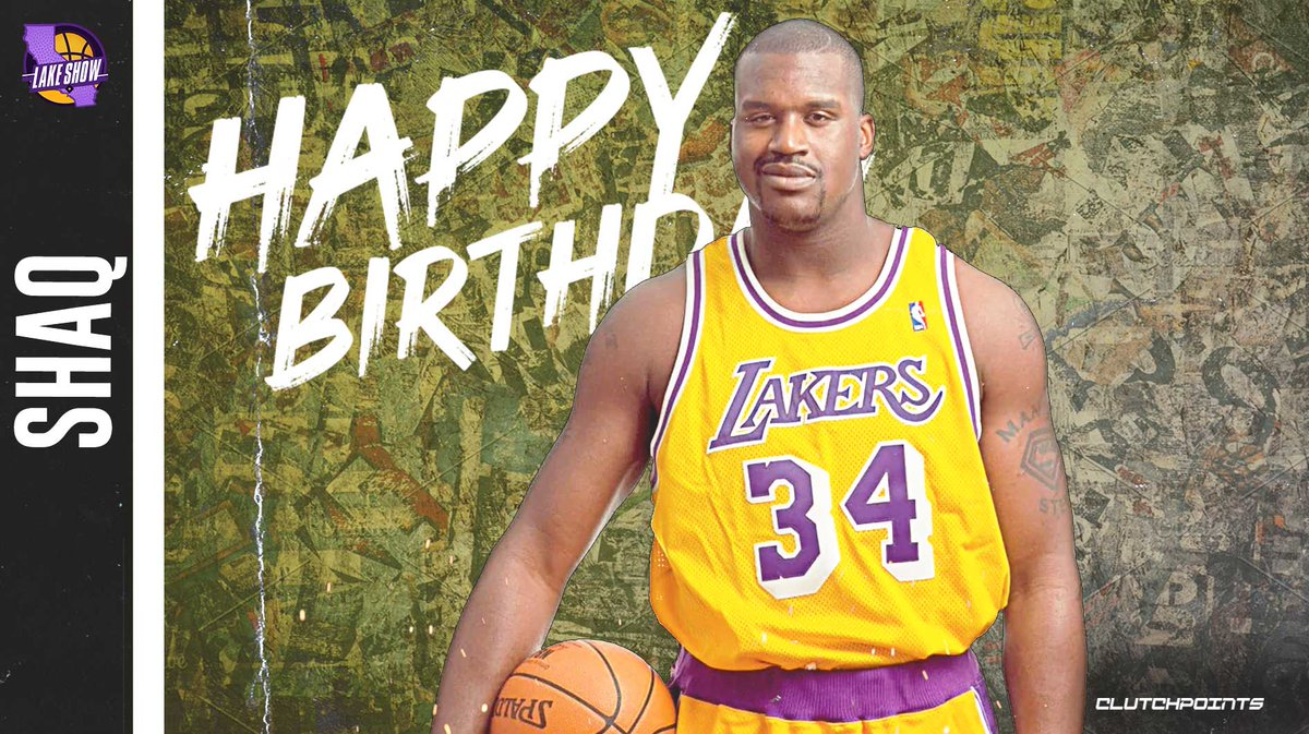 Join Lakers Nation in greeting the legendary Shaquille O'Neal a happy 49th birthday! 🎂
