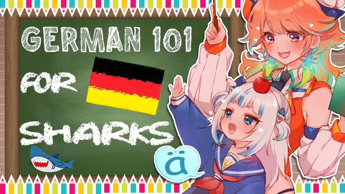 next stream → 【SAMETORI GERMAN CLASS】 in a few hours I will be teaching my honor student Gura some DEUTSCH for Haie!👀🦈 Dont miss it! 今夜はぐらちゃんにドイツ語を教えてあげる!皆さんにも勉強になるかな? youtu.be/huhBjp5IByw