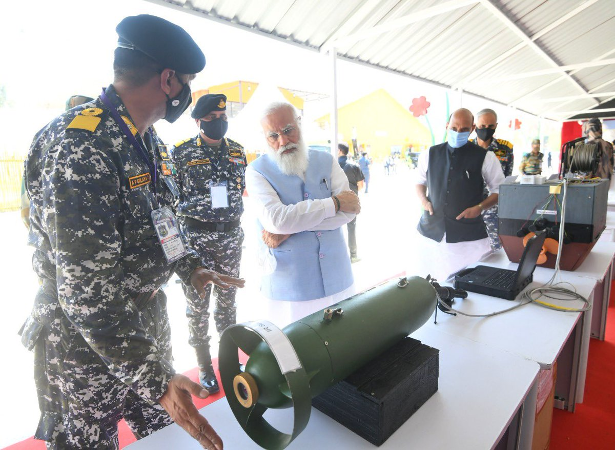 At the Combined Commanders' Conference, saw some of the innovations by our armed forces that were showcased in the exhibition.
