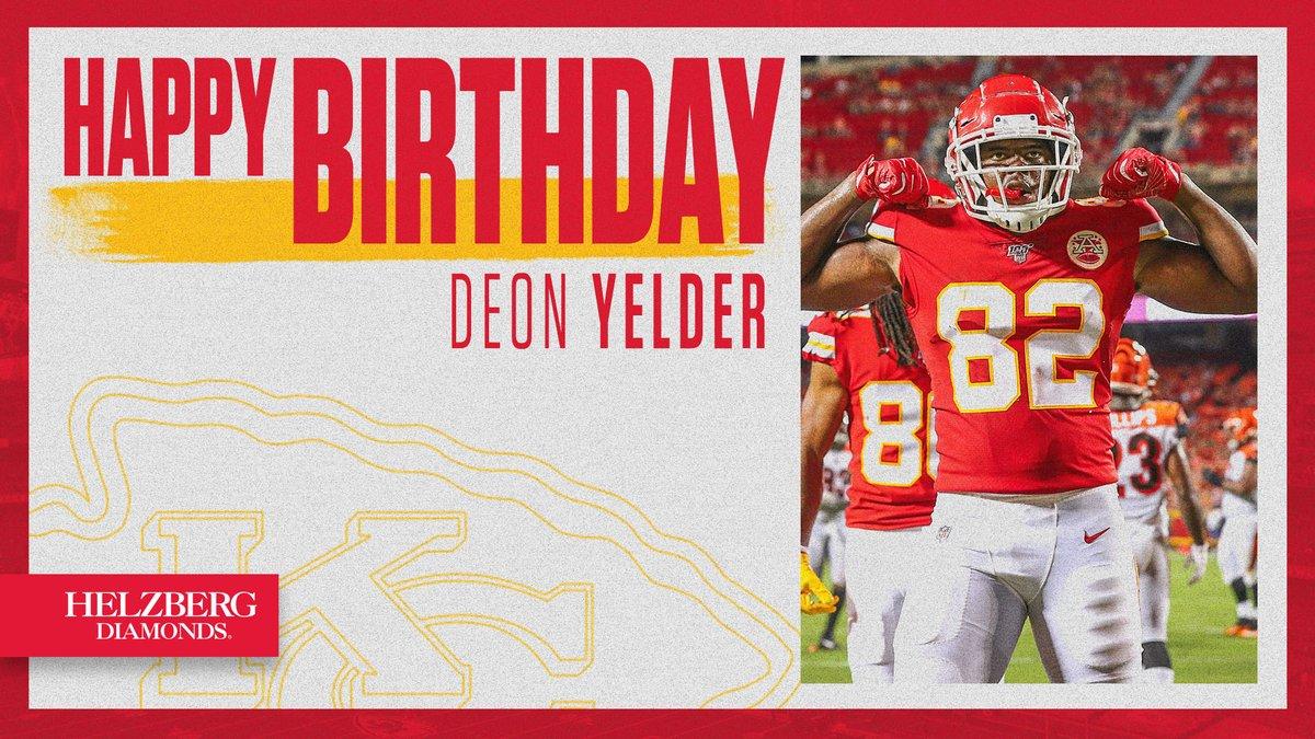 Happy birthday, @DeonYelder 🎈