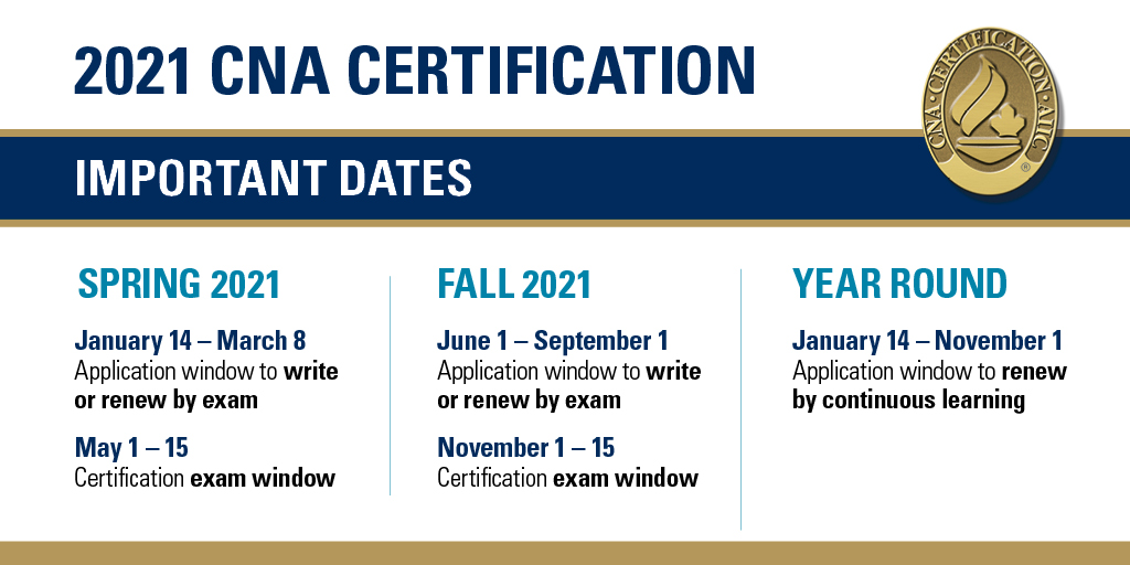 Interested in pursuing @canadanurses certification?   Apply by March 8 to write an exam to obtain or renew your #nursing #specialty #certification.   https://t.co/b209xyOVKg  #CNA2021#nursing #specialty #certification #certificationmatters https://t.co/y9n1v57EpH