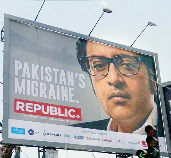 NO, Arnab. That's not correct. Pakistan is doing fine. You are India's migraine. Every single time that you are on TV.