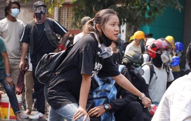 """Her name is Kyal Sin and she was brutally murdered this week. She wore this black shirt that said """"Everything will be OK"""" when she was shot in the head by Burmese military. Know her courage. Here's how her memory may stop this coup and help protect democracies everywhere (THREAD) https://t.co/MxBygp7aJR"""