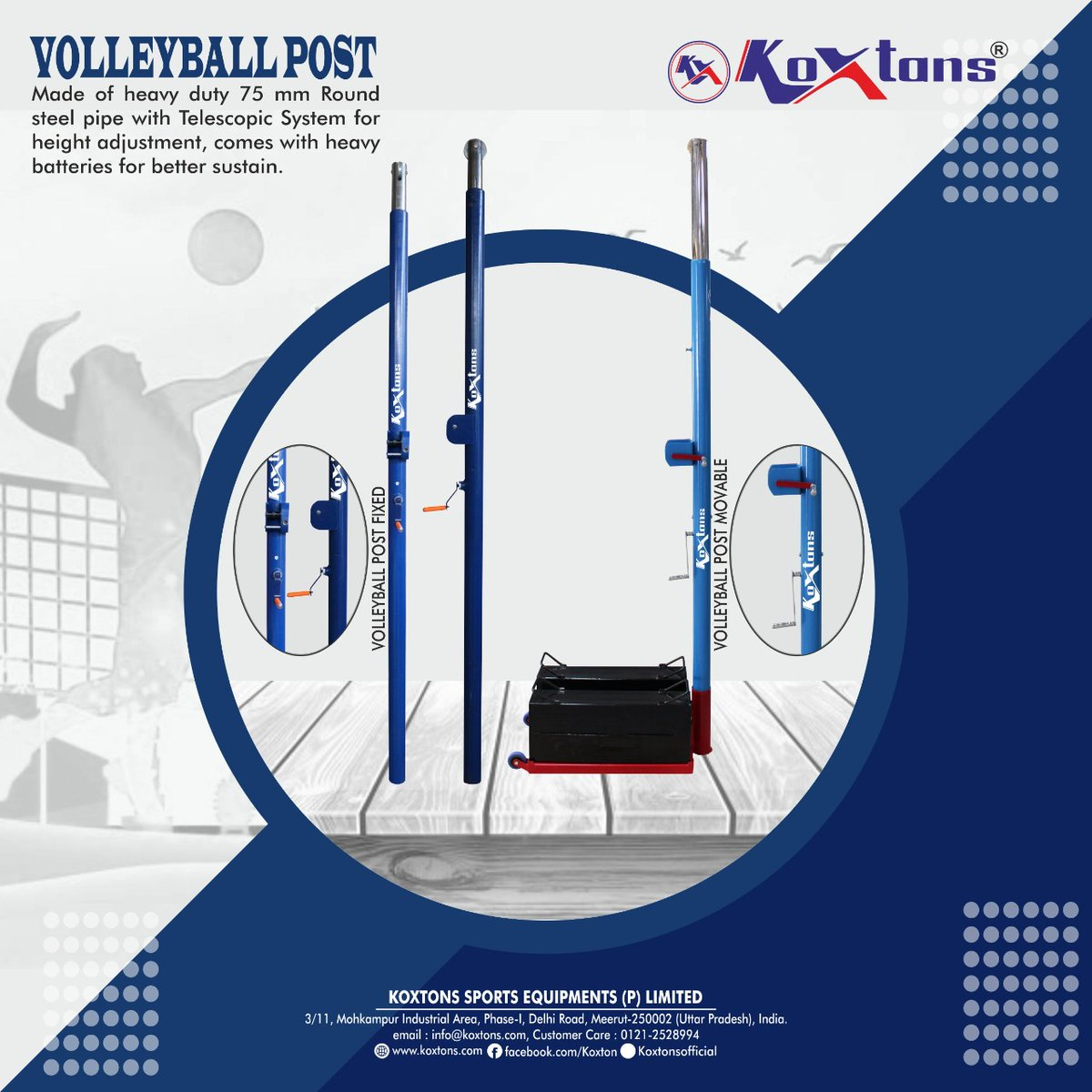 Durability, Performance and Ease-of-Use, the KOXTONS Volleyball Post is one of the best options, Ideal for school, club or college programs, Tournaments and large practice spaces.  Visit https://t.co/lMNXHnQaNt /DM on 9068811125  #volleyballpost  #outdoorgames #outdoorsports https://t.co/WwBMa0kyjW