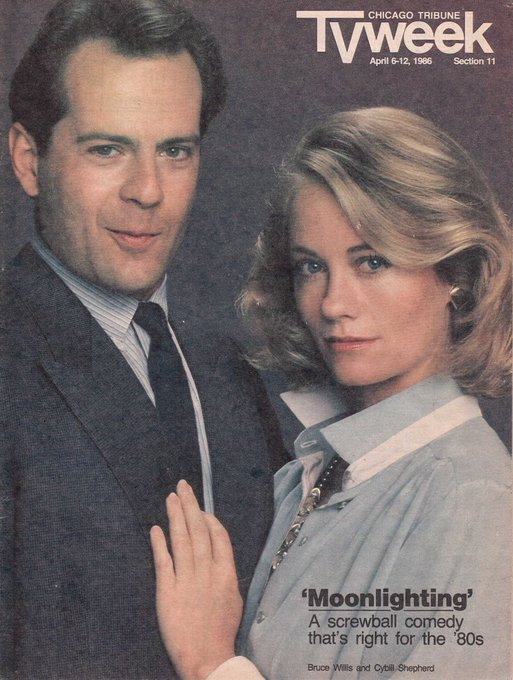 Happy Birthday to Bruce Willis, born on this day in 1955 Chicago Tribune TV Week.  April 6-12, 1986