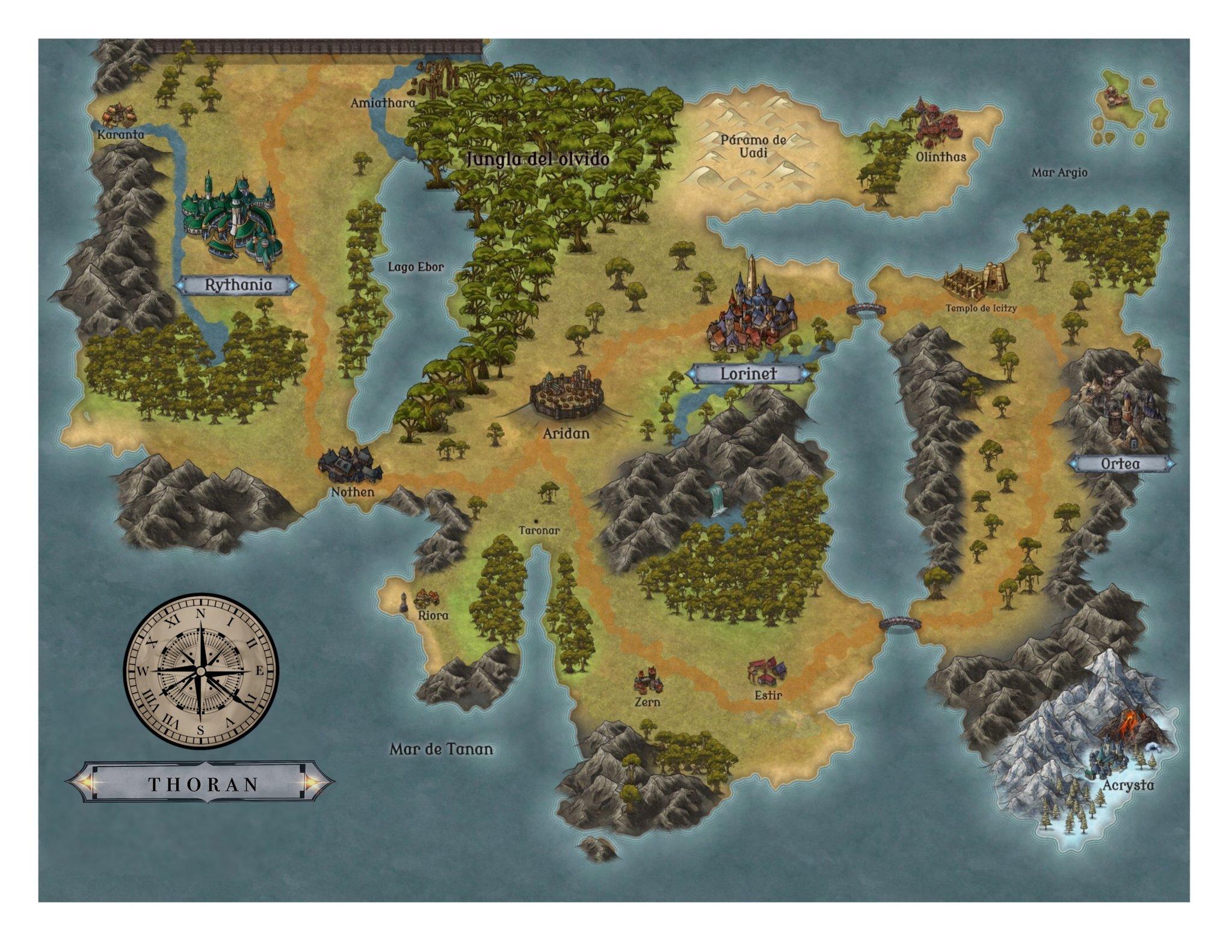 Mapa a color de Thoran - Cine de Escritor