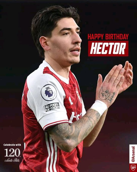 Happy birthday to you Hector Bellerin , more wins to you