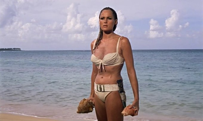 Happy birthday to Ursula Andress who played Honey Ryder in Dr. No!  19 March