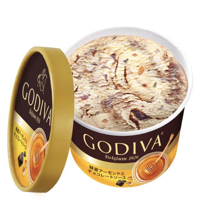 コンビニで買える国産「百花蜂蜜」を使用したゴディバカップアイス!『蜂蜜アーモンドとチョコレートソース』が新発売されるよ。