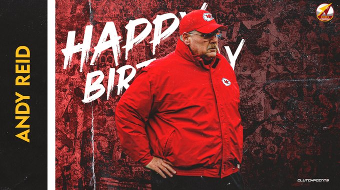 The whole Chiefs Nation would like to greet HC Andy Reid a happy 63rd birthday!