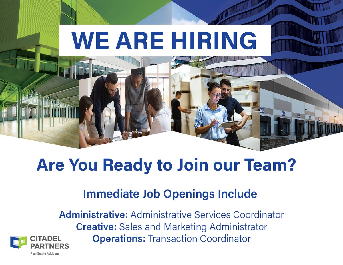 test Twitter Media - Ready for a change? Come on in, We're Hiring!  https://t.co/fZF5hAy8IN  #letsgo #nowhiring #werehiring #citadelpartners #careers #greatplacetowork2021 #dallascommercialrealestate #dfwcommercialrealestate https://t.co/ntzzvqOImd