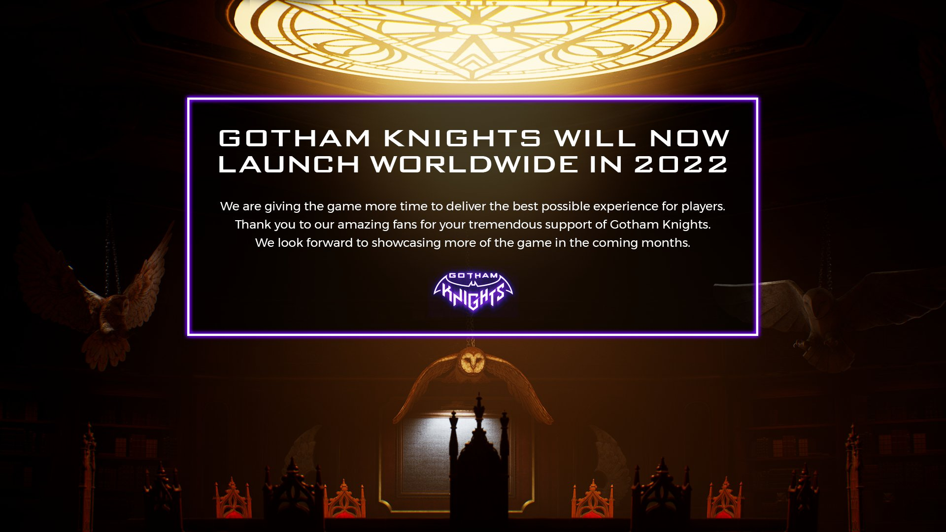 Gotham Knights delay twitter post