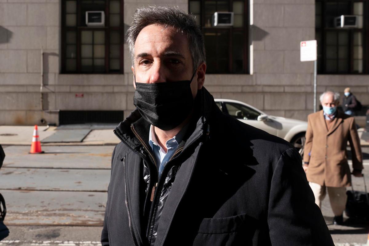 Michael Cohen arrives at Manhattan DA's office for Trump probe interview
