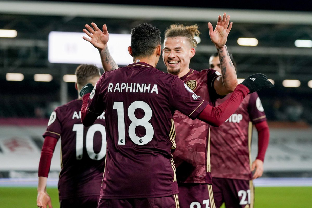 """Kalvin Phillips on Twitter: """"What a win!! Team was immense tonight 🔥  buzzing for my brothers @Patrick_Bamford & Raphinha ❤️🤩 looking forward to  international duty with @England next week 🏴🦁…  https://t.co/cDIvQP2YlN"""""""