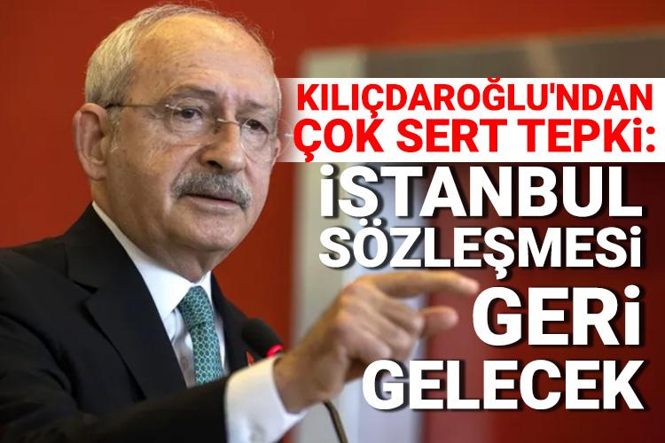 """Bursada Bugün on Twitter: """"Kılıçdaroğlu'ndan çok sert tepki: İstanbul  Sözleşmesi geri gelecek Haberi oku---> https://t.co/YmBs7KqW25… """""""