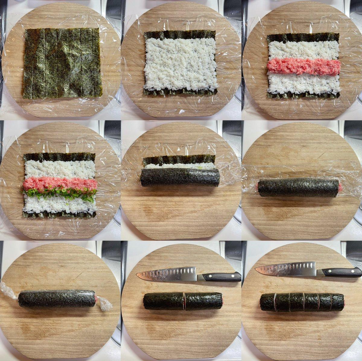 巻き簾が無くても大丈夫?!巻き寿司はラップでも作れちゃう!
