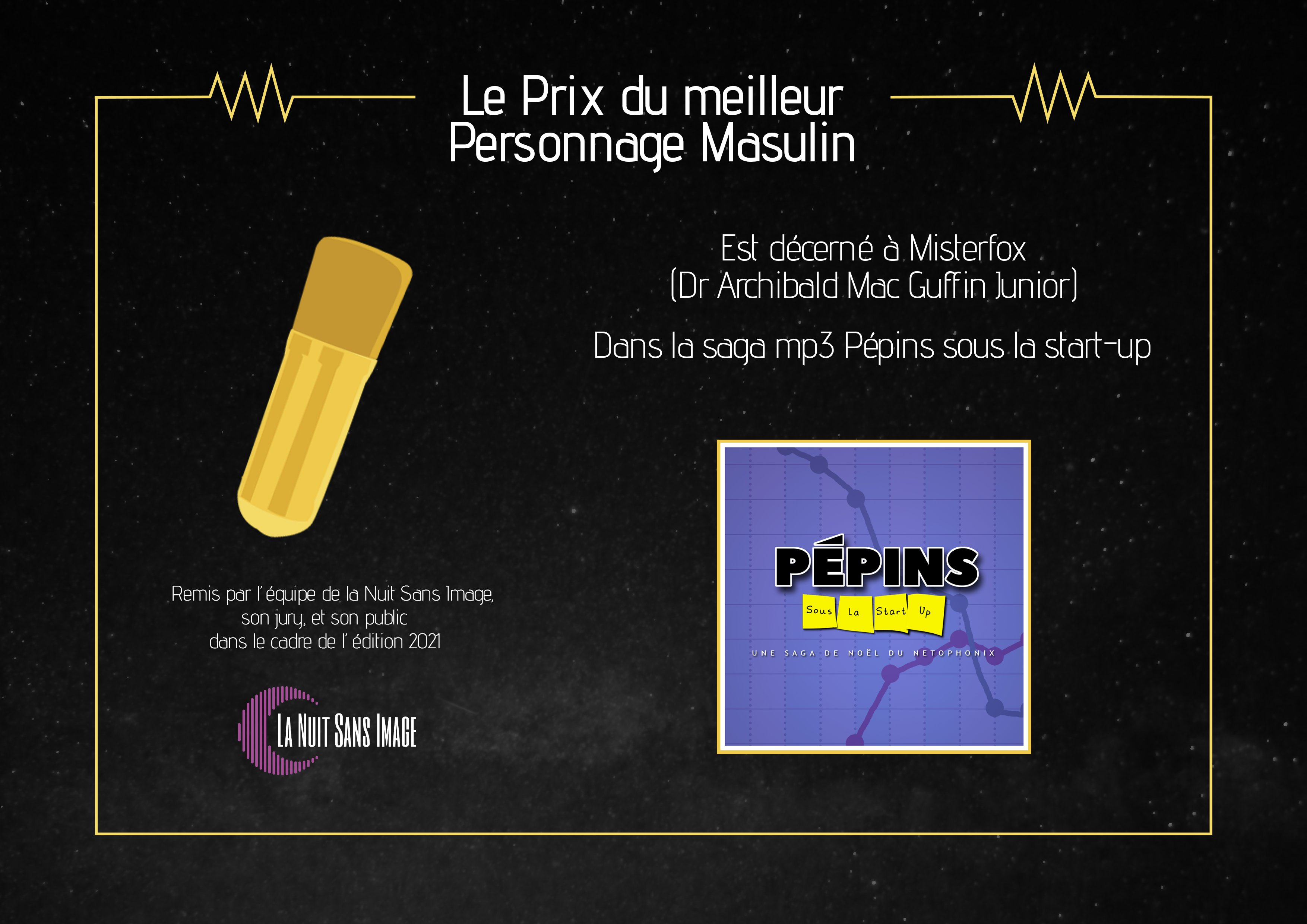 Micro d'or pour