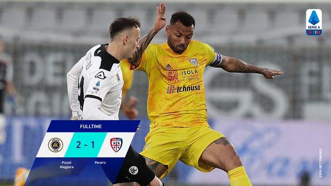 Hasil akhir Spezia 2-1 Cagliari