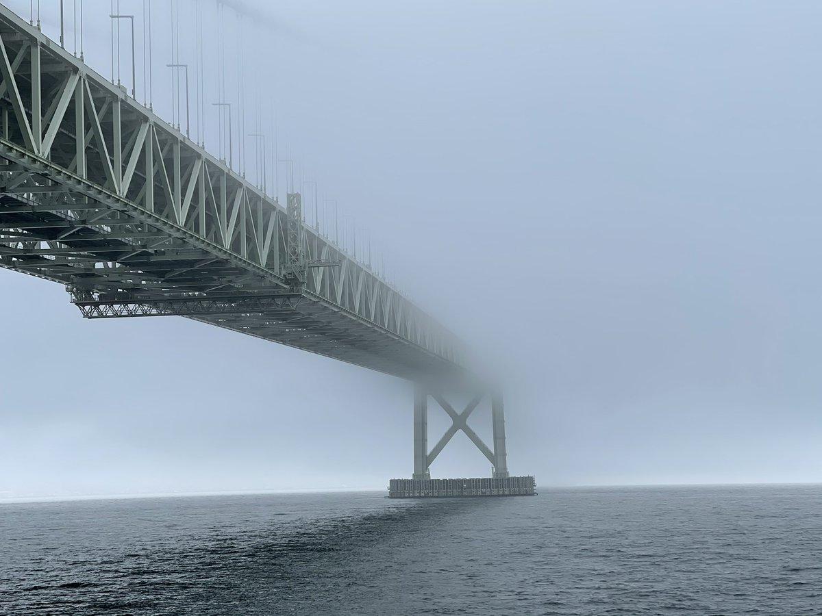 明石海峡大橋がすごいことになってる!!