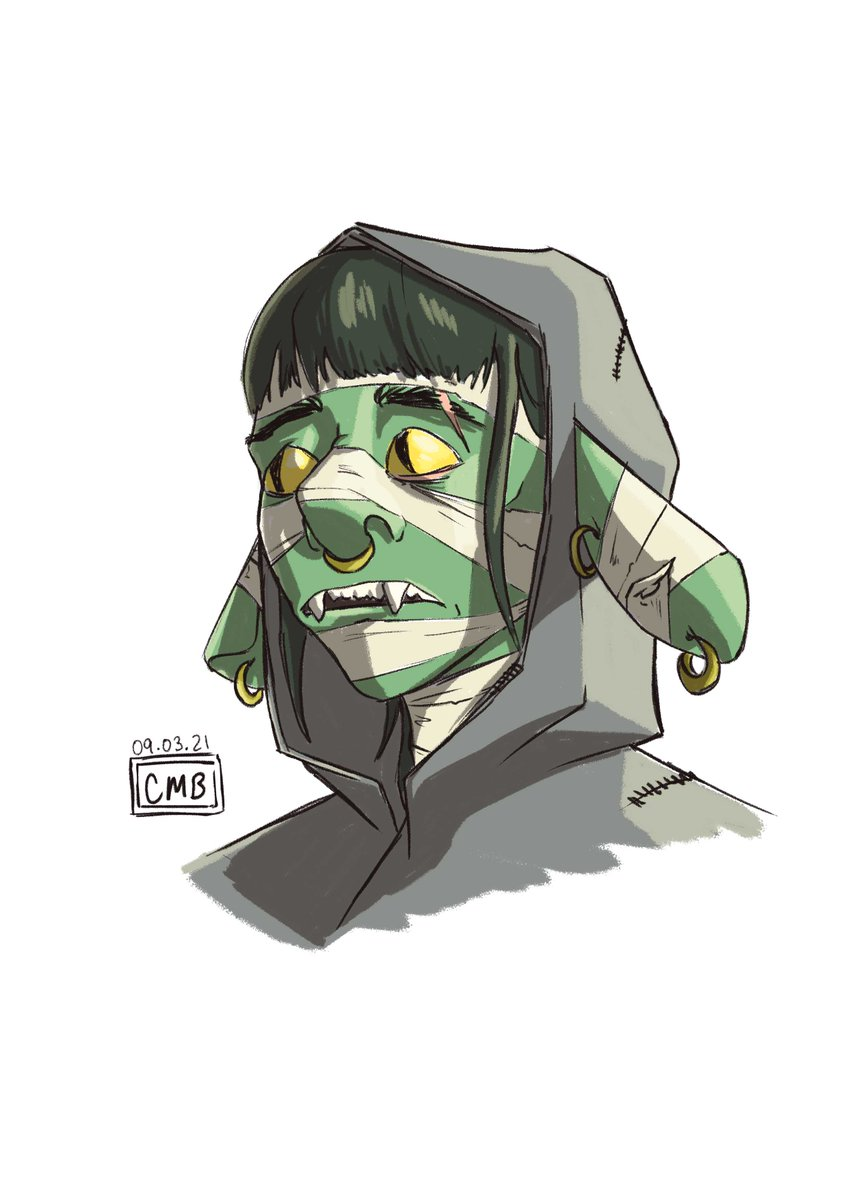 Had a spare hour and ended up back on that #pubdraw. Love how this Nott turned out, thanks Babs and Marisha (and sam I guess) even like two years later :P   #CriticalRole #criticalrolfanart #criticalroleart