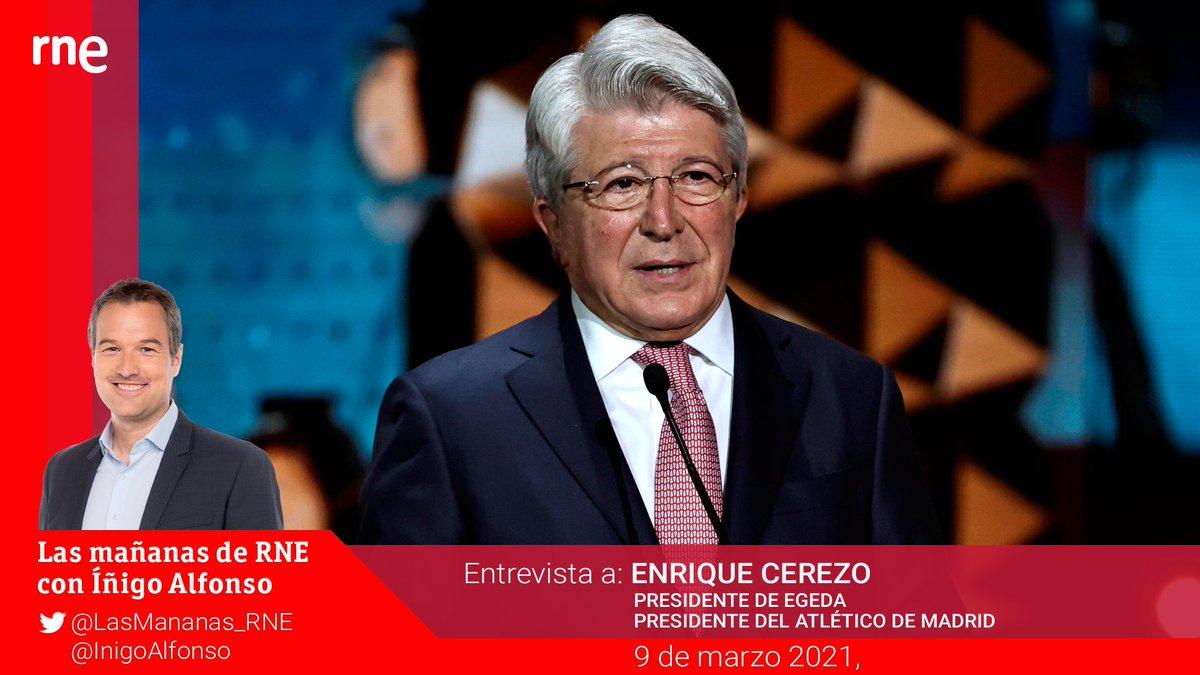 Hoy, en Las mañanas con @inigoalfonso:   📌Entrevista a Enrique Cerezo, presidente de EGEDA (@EGEDA_Comunica) y presidente del Atlético de Madrid (@Atleti)   📻 En directo a las 9:00  Y, además ⬇️ https://t.co/oVaLlHSDyK