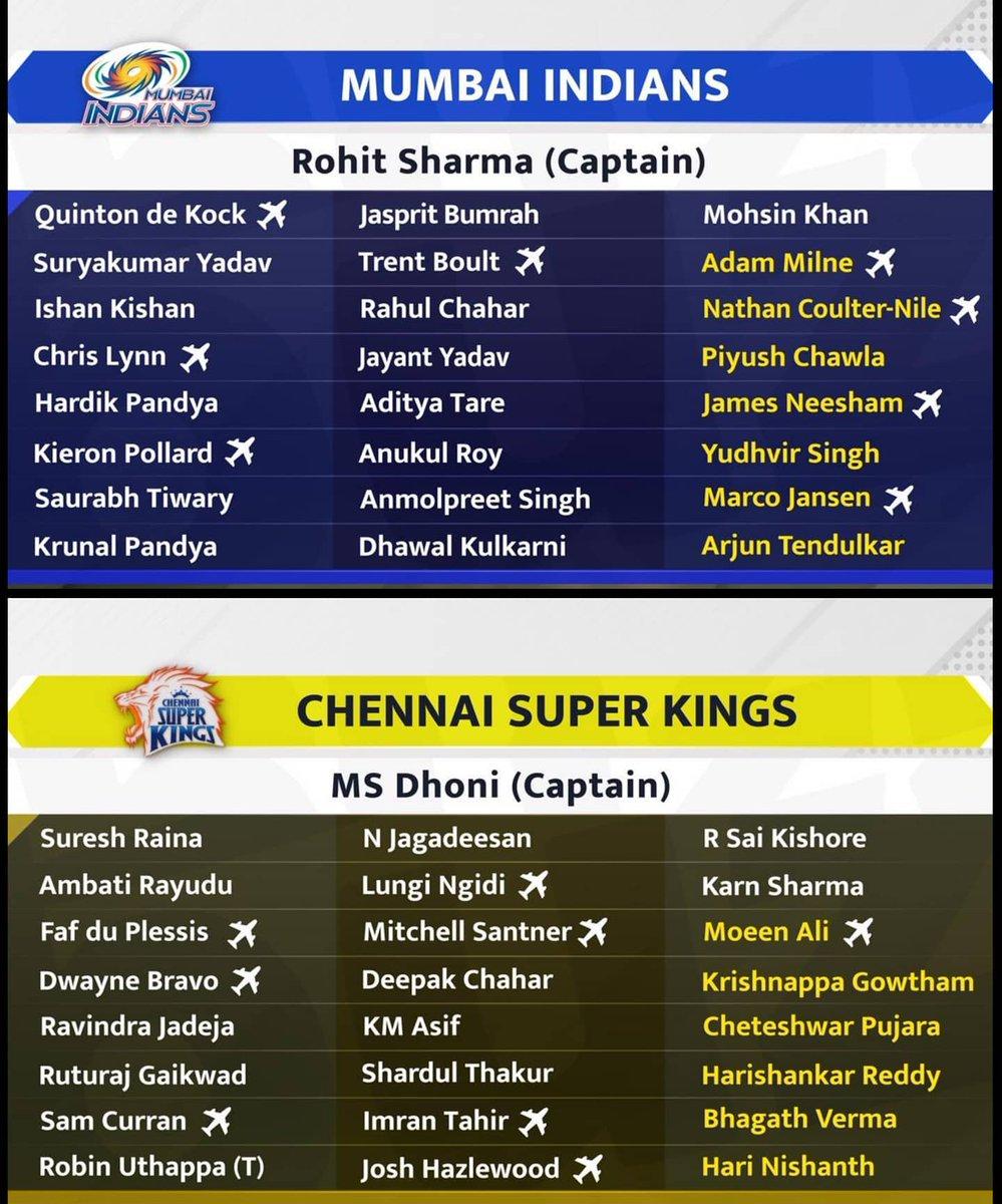 The #IPL Squads. #MI #CSK #RCB #KKR #KKIP #DC #RR #SRH #IPL2021 #IndianPremiereLeague #WeTheFansOfIndianCricket #VIVOIPL #India #Cricket #Summer #Summer2021