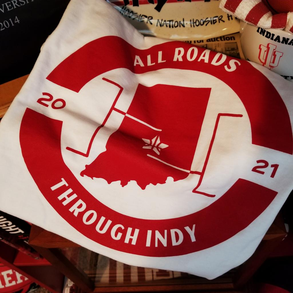 We may be down, but we're not dead. The one thing I know is that all roads go through Indy and that starts Thursday night!  Big thanks to @dazzllc for providing the awesome shirt for the postseason festivities. Check them out:   LET'S GO HOOSIERS! #IUBB