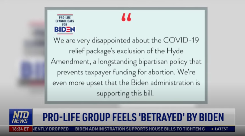 """Evangelicals For #Biden"" feel betrayed by #BidenHarris. This comes as no surprise, as the #Democrats do not support any #ProLife views on #Abortion. It is the #Republican Party Platform that supports the #RightToLife, does not want tax payer money to fund #PlannedParenthood !"